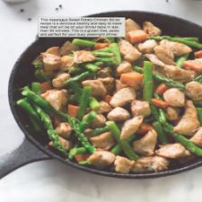 Asparagus Sweet Potato Chicken Skillet | Gluten Free and Paleo